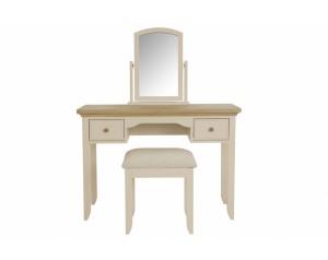 Akam kosmetinis staliukas su veidrodžiu ir kėde