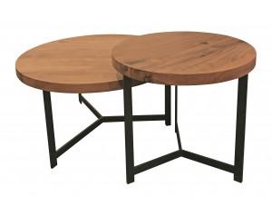 MOON 2-u apvalūs kavos staliukai