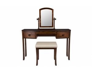 Broughton kosmetinis staliukas su veidrodžiu ir kėde