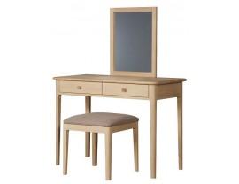 Hudson kosmetinis staliukas su veidrodžiu ir kėde